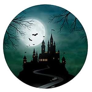 alfombrilla de ratón La fantasía del vector Castillo luz de la luna del cielo - ronda - 20cm