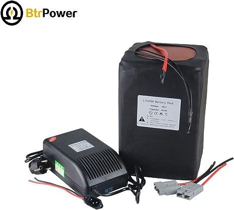 BtrPower - Batería de Litio para Bicicleta eléctrica de 1500 W (48 ...