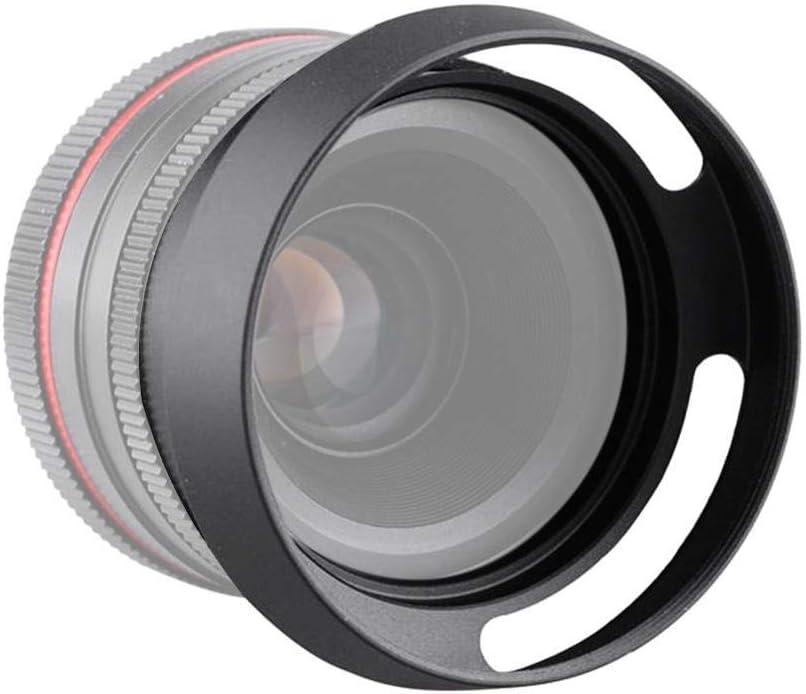 Vbestlife Universal Camera Lens Hood Aluminium Hollow Lens Hood Sunshade Camera Cover Protector for Universal Camera 43mm