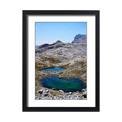 Framed 24x18 Print of Picos de Europa Surroundings, Ponds, Spain (13417181) by Media Storehouse