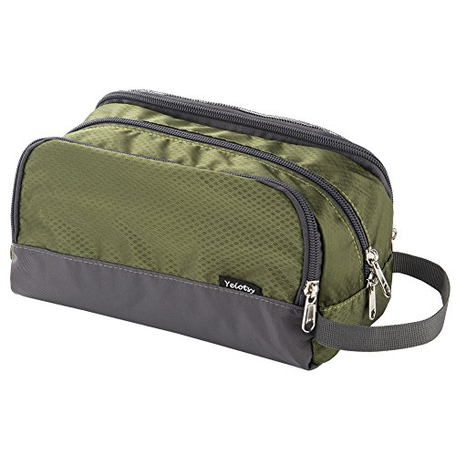 Shower Bag, Yeiotsy Travel Toiletry Organizer Small Toiletry Bag Unisex Gym Bag (Army Green) by Yeiotsy (Image #1)