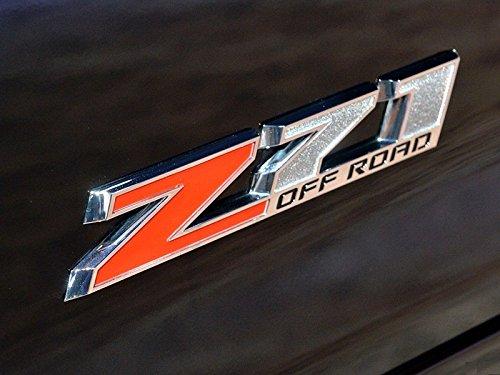 Yoaoo 2x OEM 10 Inches Big Chrome Z71 Off Road Emblems for Gmc Chevy Silverado Sierra Suburban 2500Hd Red