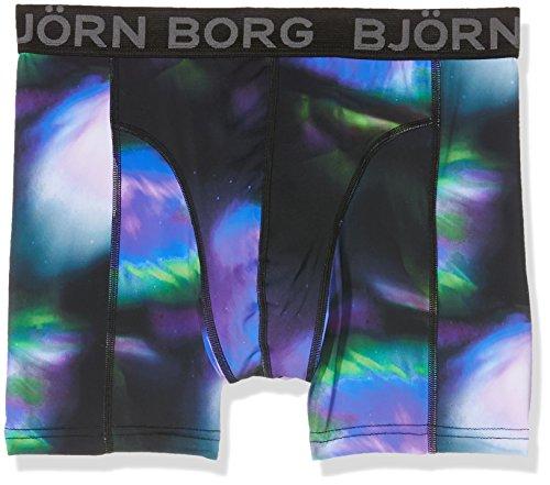 Björn Borg Herren Boxershorts Shorts Polyamide, Bb Nordic Lights, 1-P, Schwarz (Schwarz), XS