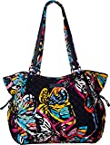Vera Bradley Iconic Glenna Satchel, Signature Cotton, Butterfly Flutter