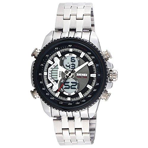 Skmei Analog Digital Black Dial Men's Watch   993 Black