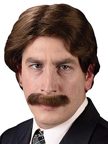 Little Escobar Halloween (Fun World Men's 70s Star Halloween Party Costume Wig, brown,)