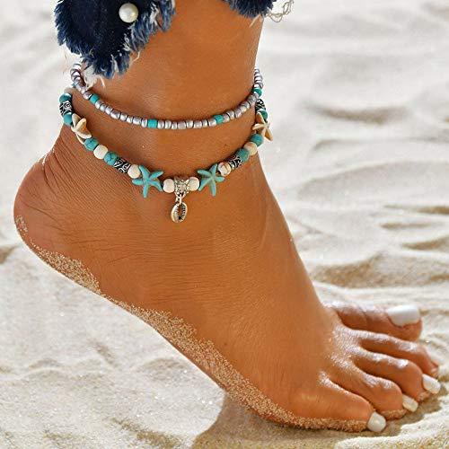 Florance jones Sexy Crystal Girl Anklet Ankle Bracelet Barefoot Sandal Beach Foot Chain Jewelry | Model BRCLT - 46592 ()