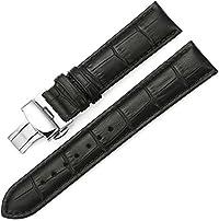 iStrap 時計ベルト 12mm-24mmDバックル尾錠交換ベルト 6色 腕時計 ストラップ 本革 おしゃれ 耐水性 装着簡単