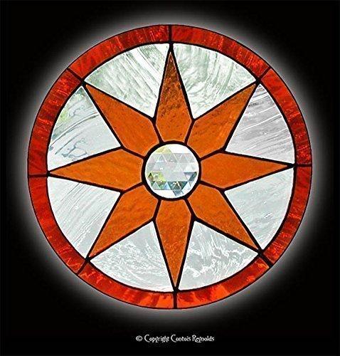 Stained Glass Starburst Window ~ Easy to Hang! (Window Starburst)