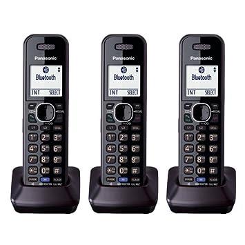 Panasonic kxtga950b DECT 6.0 2 línea terminal adicional para teléfonos kx-tg95 X X Serie
