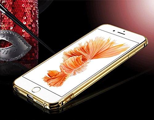 Funda para iPhone 6 Plus / 6s Plus, Vandot Lujo Ultra Delgado Mate PC Funda Protectora de Teléfono con Webcam Cover de Metal, Ultra Slim Protección Completa Prueba de Choques Anti-Arañazos Funda de Pl Mirror Oro