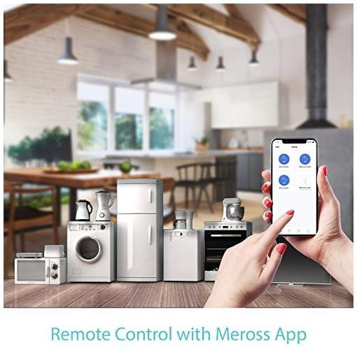 meross intelligente wlan steckdose smart plug, kompatibel alexa, google home und smartthings, mit app fernsteuerung für ios und android, 16a-3680w, 2 stück