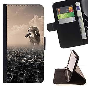 Momo Phone Case / Flip Funda de Cuero Case Cover - Funny Giant Domoku - LG G3