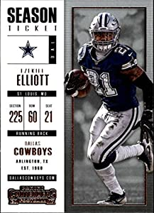 2017 Panini Contenders #77 Ezekiel Elliott Dallas Cowboys Football Card