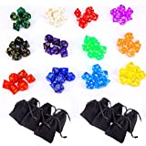 12 x 7 (84 Pieces) Polyhedral Dice 12 Color Dungeons and Dragons 4 Sided, 6 Sided, 8 Sided, 10 Sided, 12 Sided, 20 Sided Game Dice Set