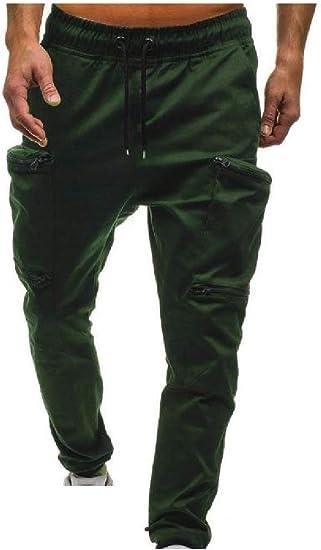 VITryst メンズ マルチポケット 迷彩弾性ウエスト カジュアルトレーニング ランニング ズボン