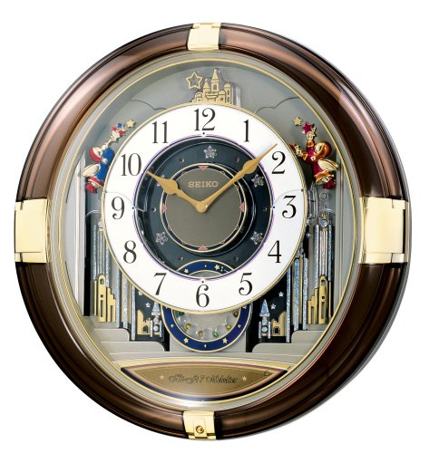 Seiko Melodies in Motion Wall Clock Dial Opens To Reveal a Decorative Wheel and LED Lights