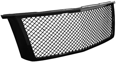 Spec-D Tuning for Chevy Tahoe Suburban SUV Glossy Black ABS Front Bumper Mesh Hood Grill Grille