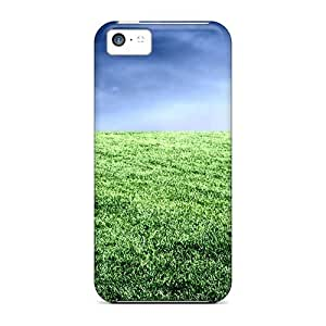Durable Case For The Iphone 5c- Eco-friendly Retail Packaging(football Feld Sport)