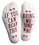 "Luxury Combed Cotton ""Bring Me Some Wine"" Socks - Perfect Hostess or Housewarming Gift Idea, Birthday Present, or Gift for a Wine Enthusiast"
