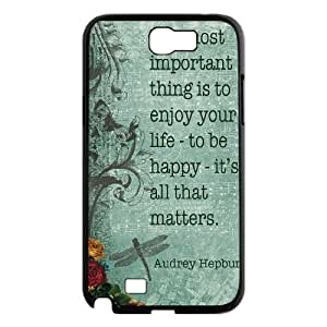 Audrey Hepburn Quotes Personalized Cover Case for Samsung Galaxy Note 2 N7100,customized phone case ygtg-781347
