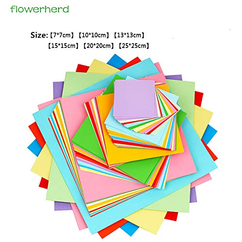 Gift Wrapping Paper - More Size Mixed Colorful 70gsm Origami Paper Double Sided Folding Paper Square Kraft Paper Kids DIY Handmade Paper Craft by Gift Wrapping Paper