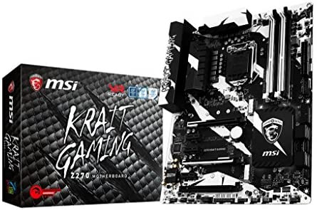 MSI Z270 Krait Gaming Scheda Madre, Formato ATX, Chipset Kabylake, Bianco