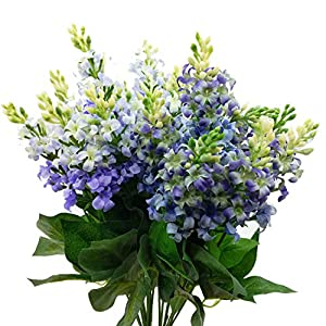 Artificial Fake Flowers Silk Plastic Plant Arrangement for Home Indoor Outdoor Garden Wedding Table Vase Decorations Faux Snapdragon Flower,3 Bouquets 105