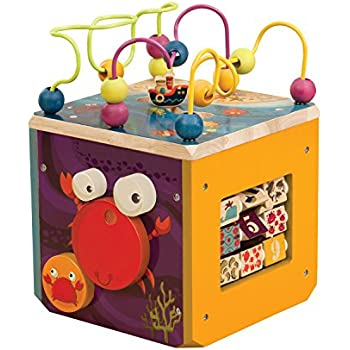 B Zany Zoo Wooden Activity Cube Toys Games