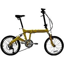 Downtube 9FS Yellow Folding Bike - 9 Speed Full Suspension