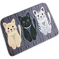 Adasmile Novelty Cat Cartoon Mat Non Slip Decorative Floor Memory Foam Area Rug (15.7x23.6)