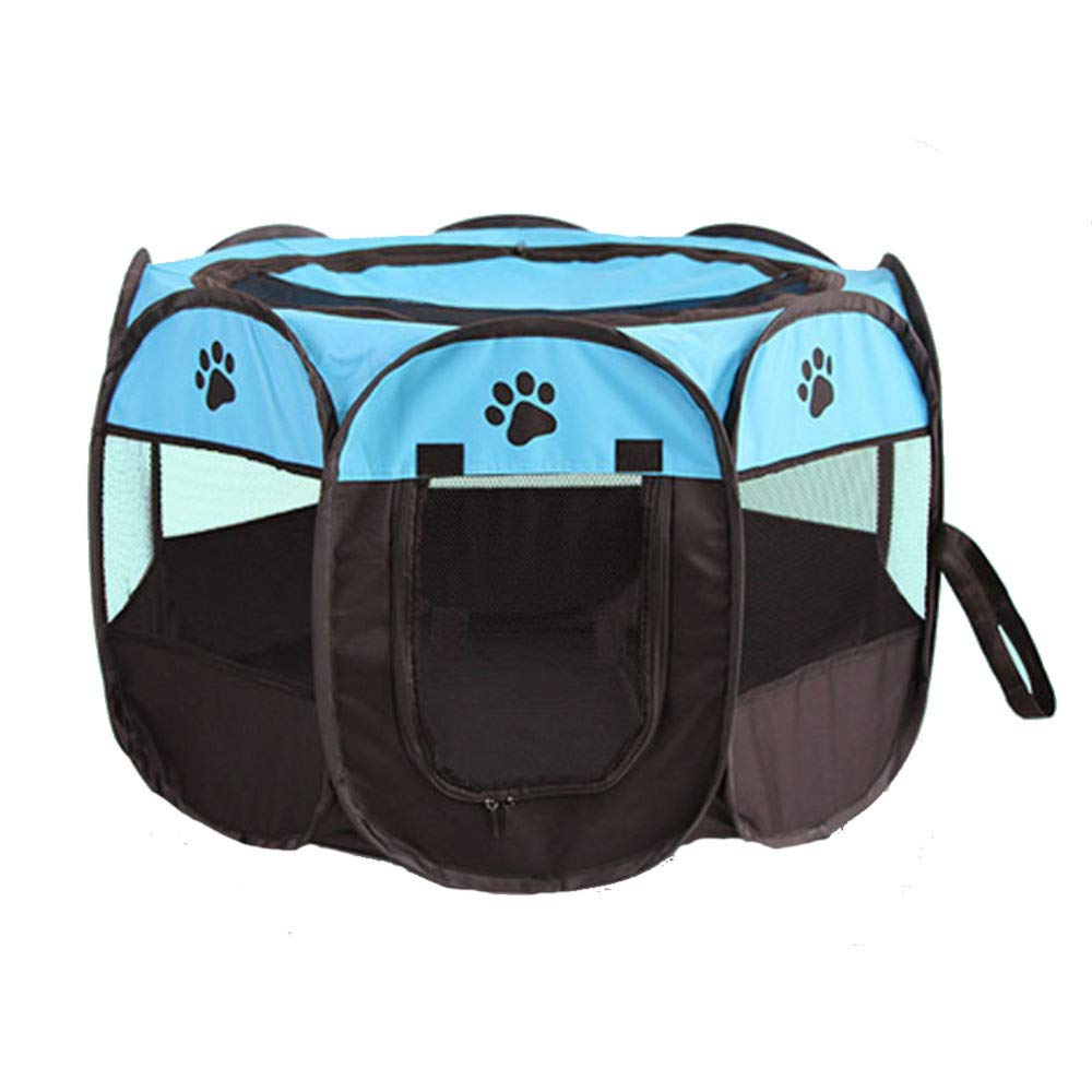 bluee Large bluee Large FZKJJXJL Pet Fence Portable Collapsible Dog Cat Fence Indoor Soft Oxford Cloth Waterproof Fabric Kennel Tent Universal bluee,bluee-L