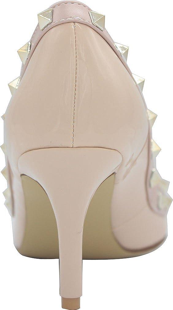 Vaneel Womens Vaaaa Pointed-Toe 8CM Stiletto Slip-on Pumps Shoes