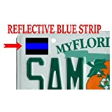 6 pack Tag Decal (F15) License Plate Thin Blue Line Cop Police Sheriff Trooper Vinyl Decal Sticker Car Window