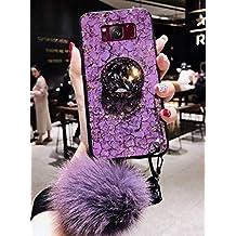 Lozeguyc Galaxy S10 Plus Bling Marble Kickstand Case, Galaxy S10 Plus Lujo suave carcasa rígida de vidrio brillante a prueba de golpes anillo soporte Cover para Samsung Galaxy S10 Plus