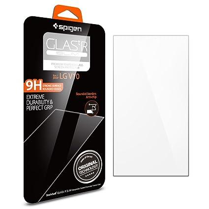 spigen glas tr slim lg v10 screen protector with tempered glass for lg v10 amazoncom tempered glass
