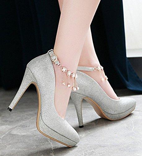 e94baf952a3 ... Escarpin À Talon Femme Escarpins Aisun Avec Strass - Plateforme Talon  Haut Bout Pointu - Chaussures