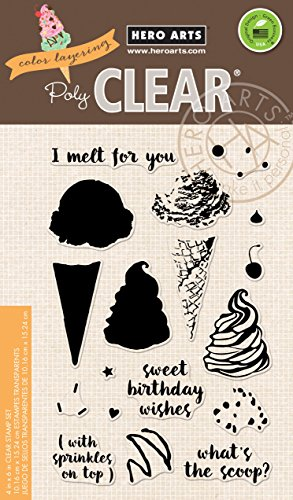 Hero Arts CL963 Color Layering Ice Cream Art and Craft Product by Hero Arts
