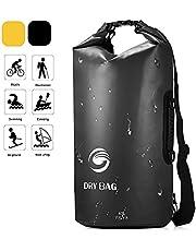Ultra Dry Bag Waterproof Backpack,40L Large Capacity Premium Sack Bag Rucksack with Double Shoulder Strap Sports Storage Bag for Kayaking Rafting Boating Swimming Camping Hiking Beach Fishing(Black)