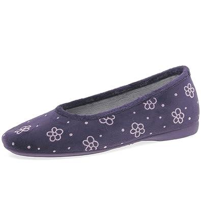 3ac73271d15 Cosdam Silvie Women s Ballerina Full Slippers 8 41 Purple (Nazareno ...