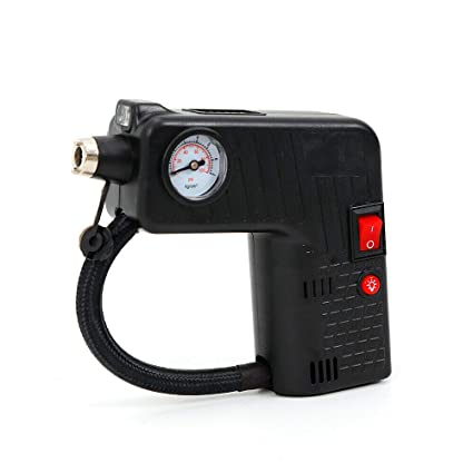 Jak N Joe Air Compressor Pump Metal Black 100 PSI 12V DC Portable Electric Car Tire