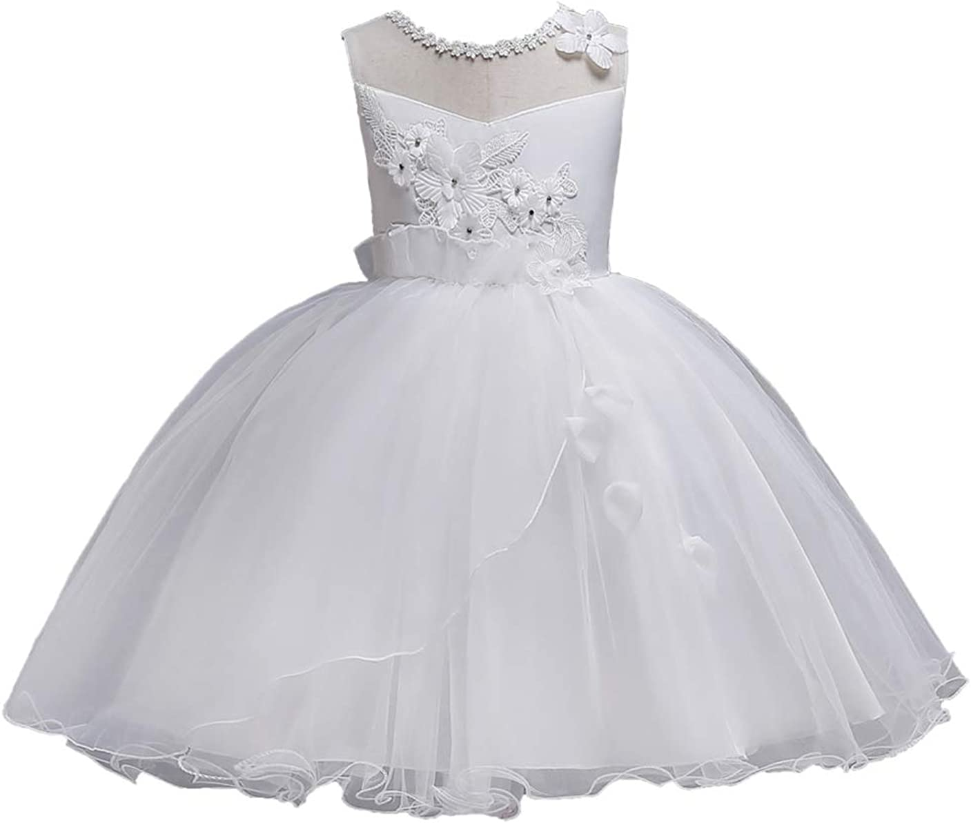 GRASWE Toddler Girls Formal Party Dress Kids Pageant Flower Wedding Ball Gown