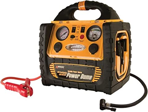 Wagan 400-Watt Power Dome Jump Starter with Built-In Air Compressor and LED Utility Light (Portable Air Power)