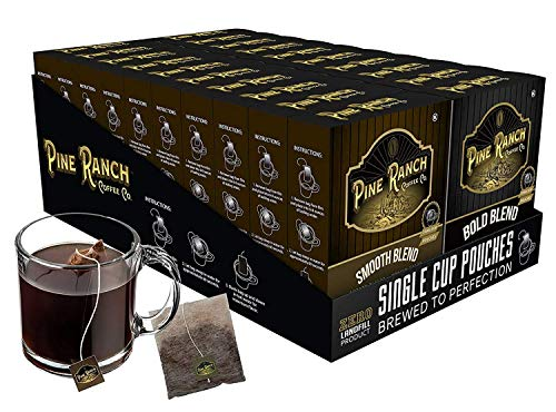 Coffee Tea Bags Single Serve   Premium Ground Organic Coffee T-Bag Style Coffee Bags   Dark Roast & Medium Roast Variety…