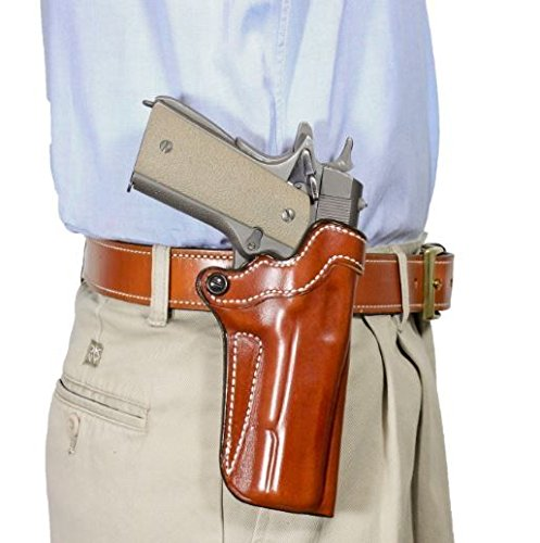 DeDeSantis-Top-Cop-Paddle-Holster-Springfield-Colt-Kimber-S-W-1911-Para-Tan Right Hand