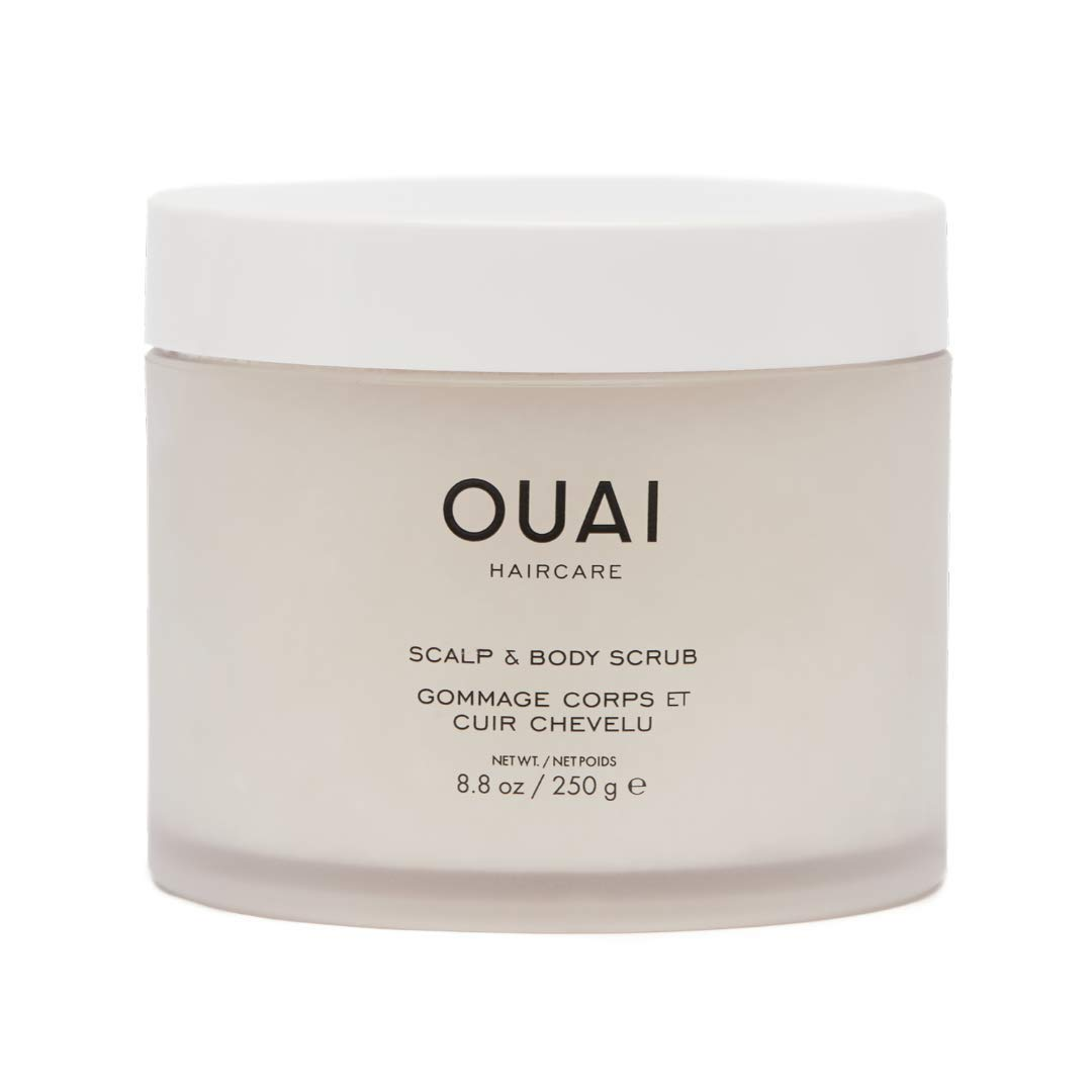 OUAI Scalp & Body Scrub. Deep-Cleansing Scrub for Hair and Skin that Removes Buildup, Exfoliates and Moisturizes. Made with Sugar and Coconut Oil. Free from Parabens, Sulfates and Phthalates (8.8