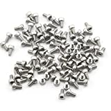 Pack of 100pcs M3*6MM Round Head Hex Socket Screws Stainless Steel Bolts