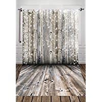 5x7ftGrey Wood Wall With Wooden Flooring Photography Background Party Backdrop Background Studio Prop D-2389