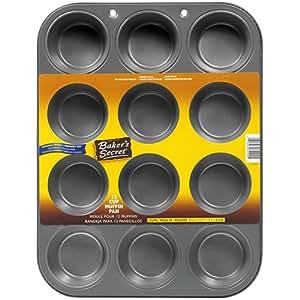 Baker's Secret Basics Nonstick 12-Cup Muffin Pan