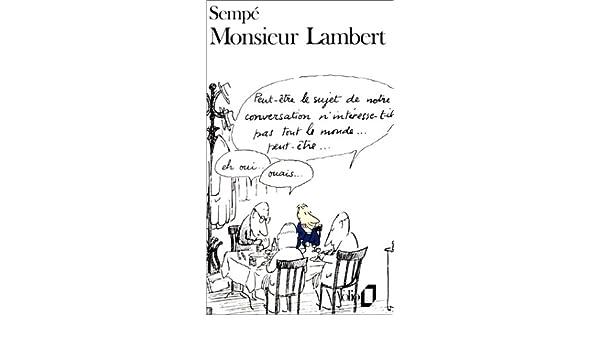 Monsieur Lambert (Folio): Amazon.es: Sempé: Libros en idiomas extranjeros